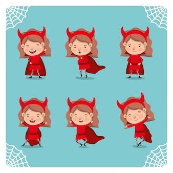 悪魔の衣装でかわいい女の子