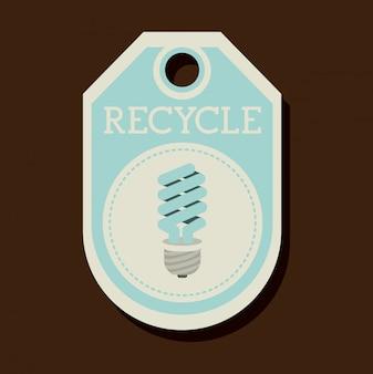 Энергосберегающий дизайн тег или этикетка
