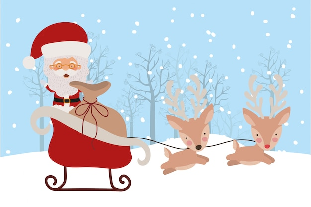 Счастливого рождества сцена с санта-клаусом