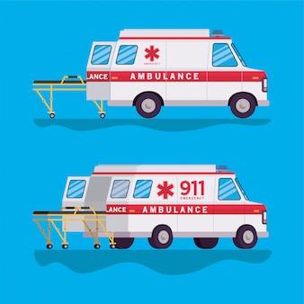 救急車と担架の設計