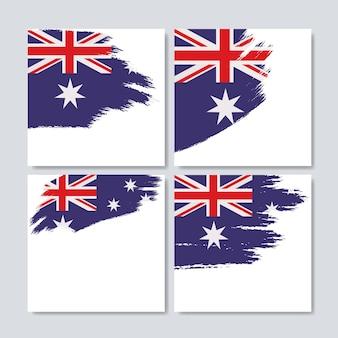 ブラシストロークのオーストラリアの旗