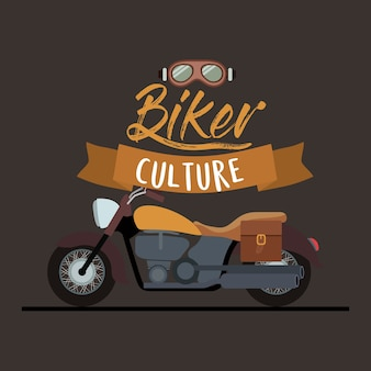 バイカーの文化ポスター