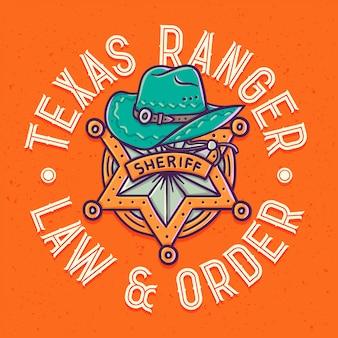 Постер со звездой и шляпой шерифа