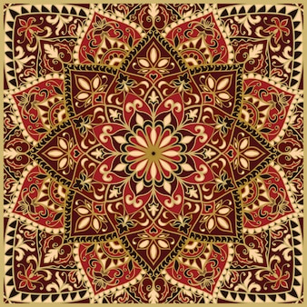 華やかな赤いパターン。