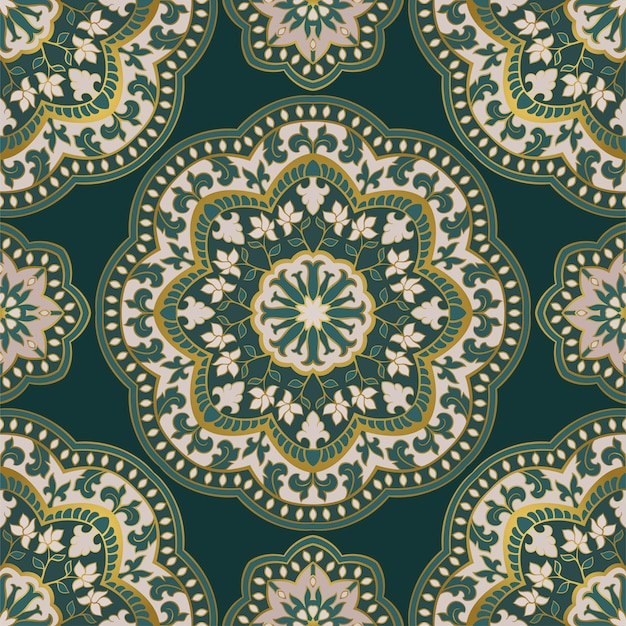 マンダラと装飾的なパターン。