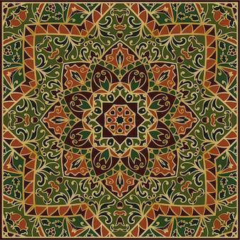 緑の装飾的なパターン。