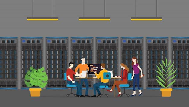 チームデータベースサーバーの人々の監視とメンテナンス