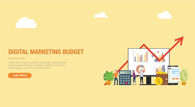 デジタルマーケティング戦略のウェブサイトの着陸