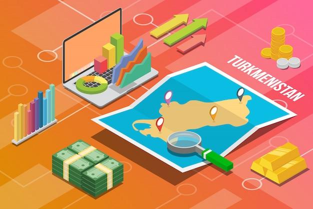 トルクメニスタントルクメニアアイソメトリックビジネス経済成長国