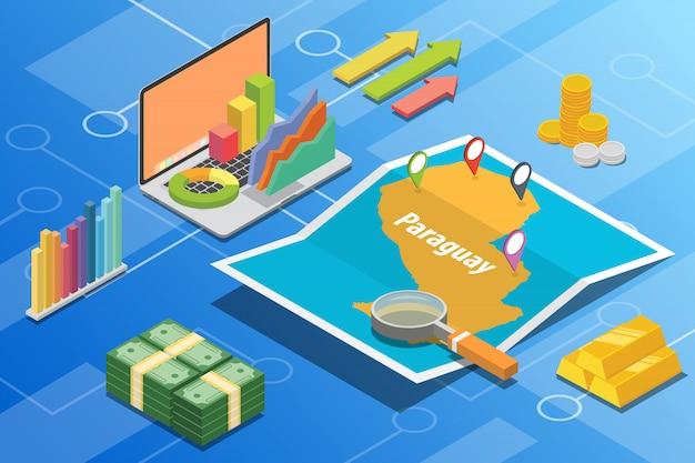 パラグアイアイソメトリックビジネス経済成長国