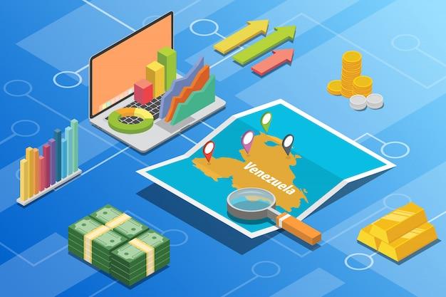ベネズエラボリバルアイソメトリックビジネス経済成長国