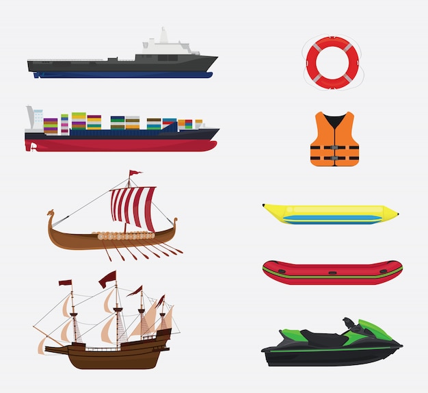 Перевозка в море или сбор воды