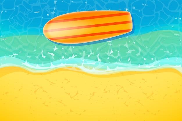 ビーチでサーフボード