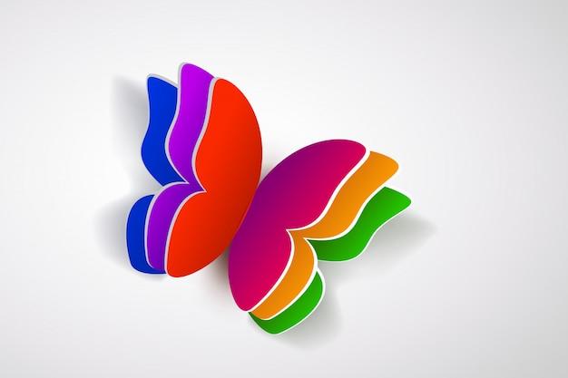 横になっているカラフルな蝶