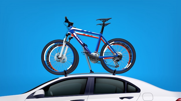 車の自転車