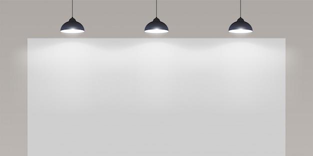 ライター付きの白い壁