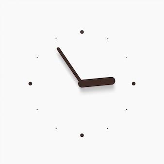 白のモダンな黒い壁時計