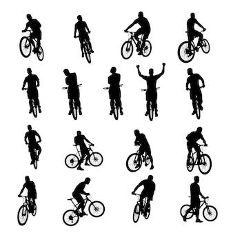 自転車ブラックセット