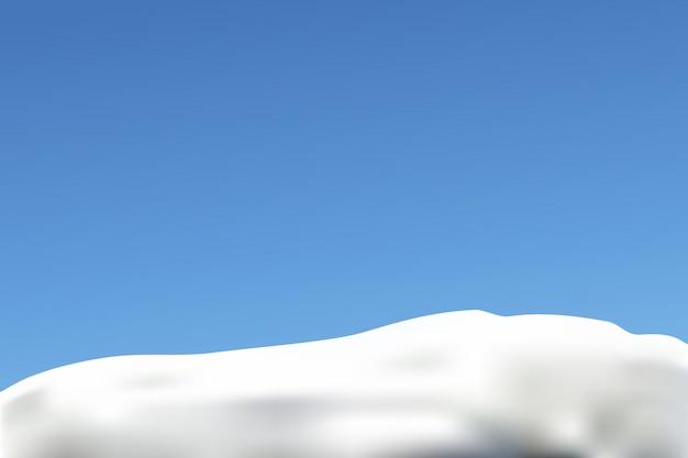 Снег и голубое небо