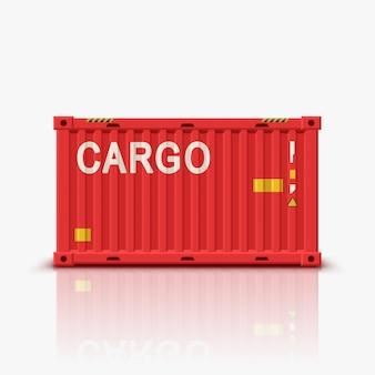Красный контейнер с отражением