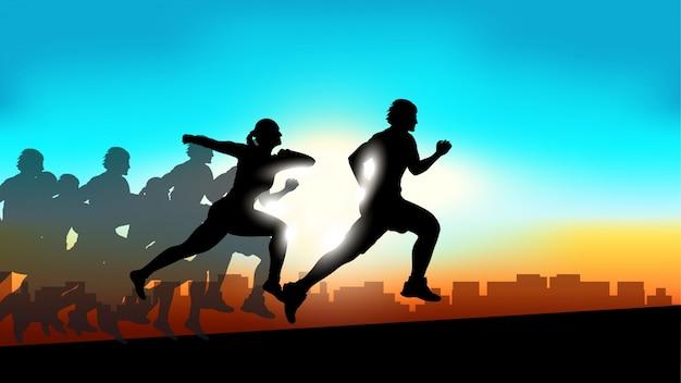 Изображение спортивных бегунов