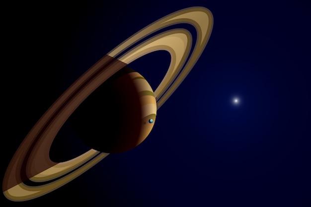 土星の惑星のイラスト