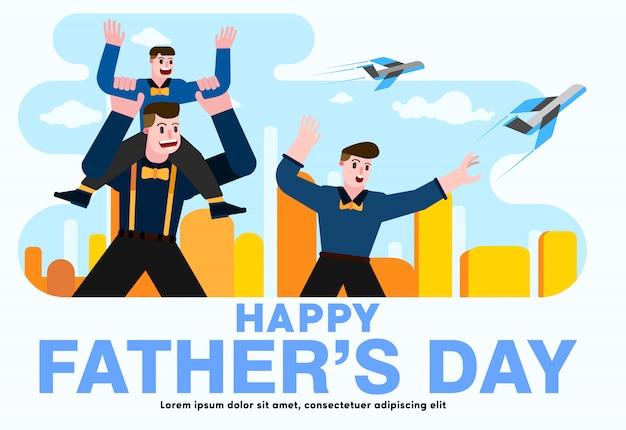 Счастливый день отца векторных дизайнов