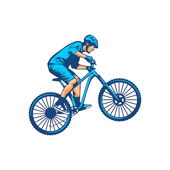 Горный велосипед вектор