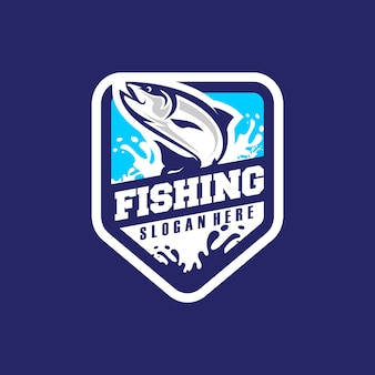 Рыбалка логотип вектор