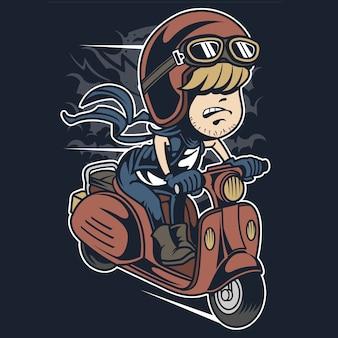 Скутер-всадник