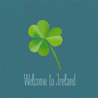 Лист клевера для поездки в ирландию векторная иллюстрация