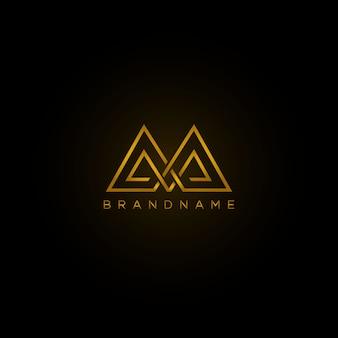 Роскошный логотип дизайн шаблона