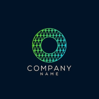 Абстрактный круг и буква о логотип