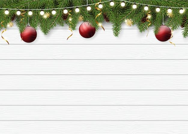 グリーティングカードの現実的なクリスマス背景