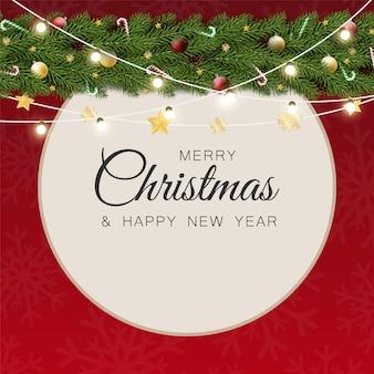 挨拶とクリスマスの背景