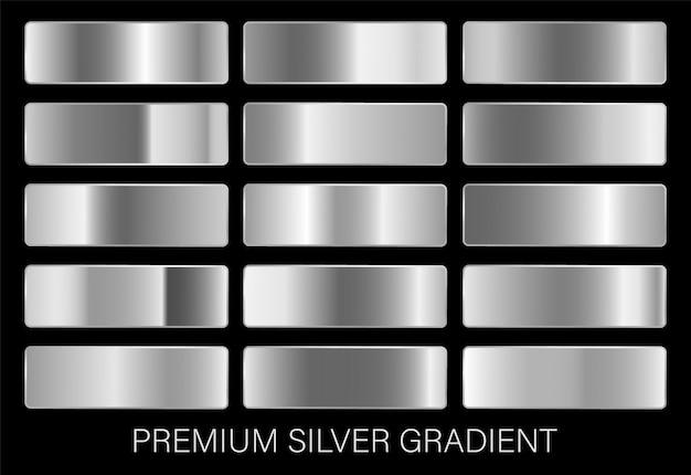Набор серебряных градиентов