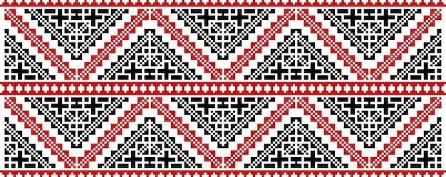 伝統的なルーマニア民俗芸術ニット刺繍パターン