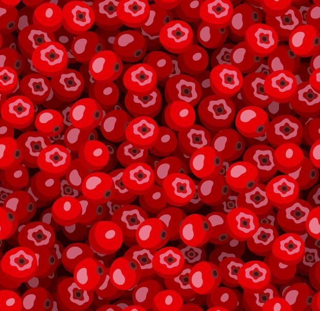 赤いナナカマドとシームレスなパターンをベクトル。