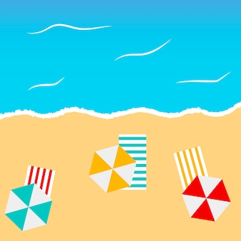 Пляж летний фон