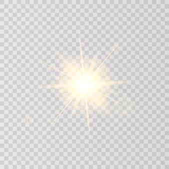 Солнечная вспышка, изолированные на прозрачном фоне