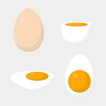 スライスした卵のアイコン