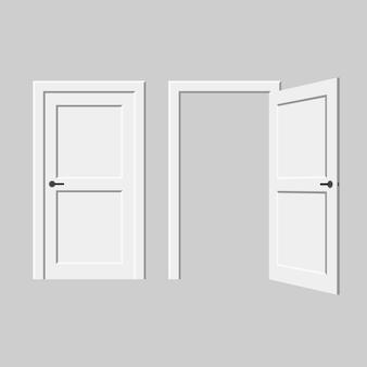 Векторная дверь. элемент интерьера