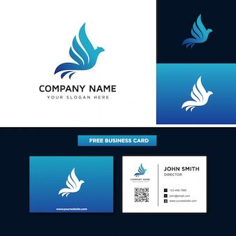 鳥のロゴのデザインテンプレート