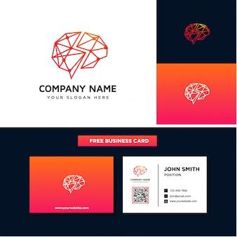 脳のロゴのデザインテンプレート