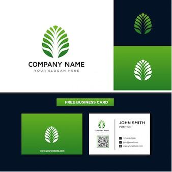 抽象的な葉のロゴのテンプレート
