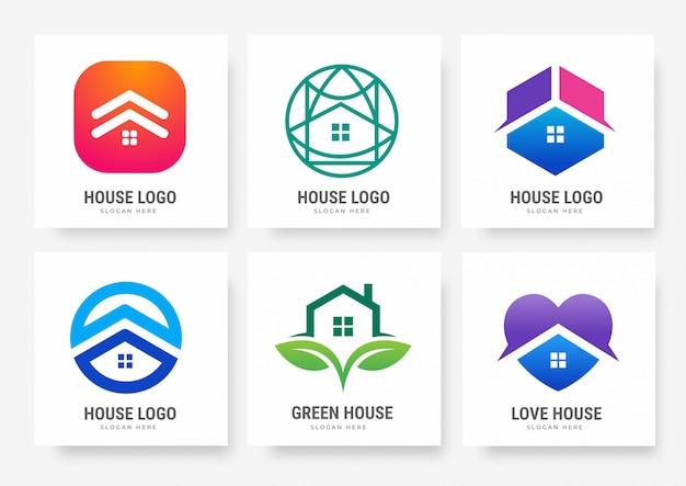 Коллекция шаблонов логотипов домов