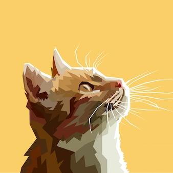 カット猫のベクトル図