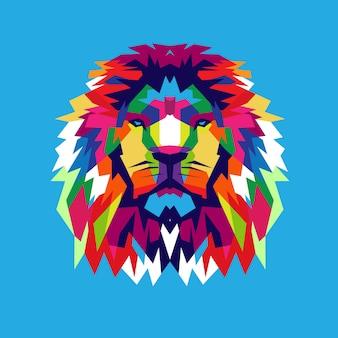 カラフルなライオンデザイン
