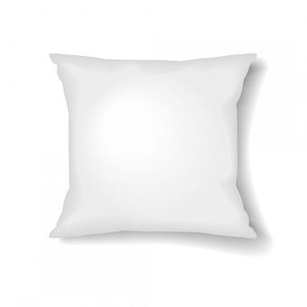 Квадратный шаблон подушки на белом фоне