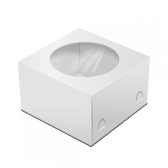段ボールのケーキボックス。ファーストフード、ギフトなどに